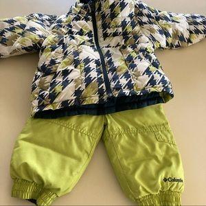 Columbia Reversible Snow Suit Jacket Ski Pants 18